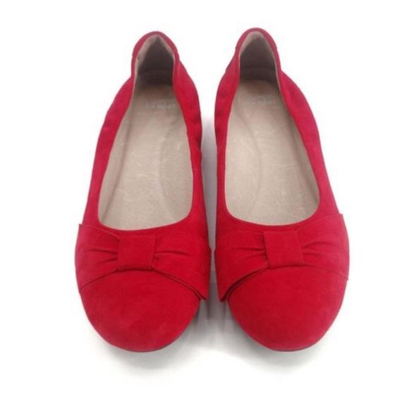 Dansko Ballet Flat Red Comfortable Comfort Slip On